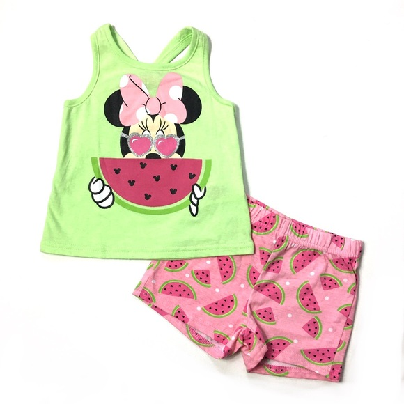 Pink NWT 2T Disney/'s Minnie Mouse Tie Shoulder Tank by Old Navy